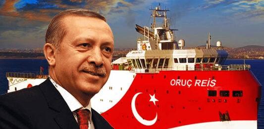 Turkey's oruc reis again in mediterranean